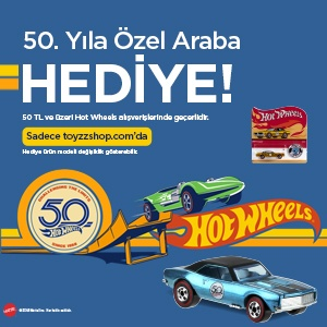 Hot Wheels 50. Yıla Özel Koleksiyon Figürü Hediye!
