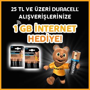 DURACELL 1 GB Hediye Kampanyası