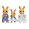 Sylvanian Families 3'lü Kahverengi Tavşan Ailesi