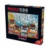 500 Parça Puzzle : Kedi Evler