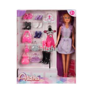 Alisha Ayakkabi Ve Cantali Bebek Oyun Seti Mor Elbise Toyzz Shop