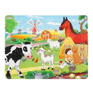 30 Parça Puzzle : Çiftlik Hayvanları
