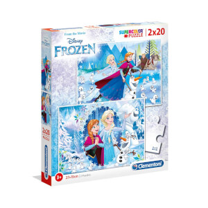 2x20 Parça Puzzle : Frozen