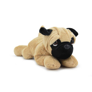Sesli Yatan Peluş Pug Köpek