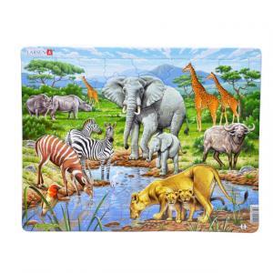 65 Parça Maxi Puzzle : Vahşi Hayvanlar