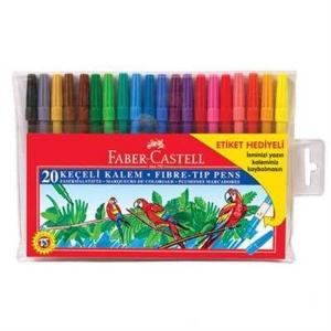 Faber Castell Keçeli Kalem İsim Etiketli 20 Renk