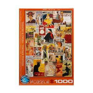1000 Parça Puzzle : Opera, Theater Vintage Posters