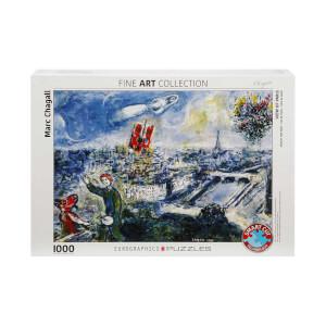 1000 Parça Puzzle: Le Bouquet De Paris - Marc Chagall