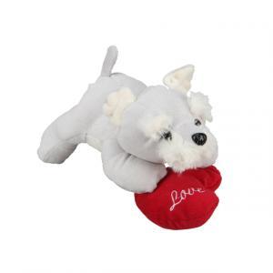 Kalpli Yatan Peluş Köpek 19 cm.