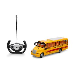 Uzaktan Kumandalı Işıklı Okul Otobüsü 32,5 cm.