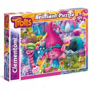 104 Parça Brilliant Puzzle : Trolls