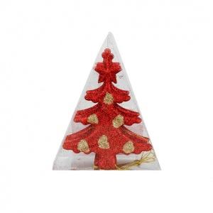 Yılbaşı Ağaç Süsü 4'lü Çam Ağacı Figürü 11 cm.