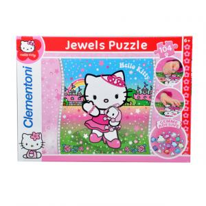 104 Parça Taş Yapıştırma Puzzle : Hello Kitty Queen