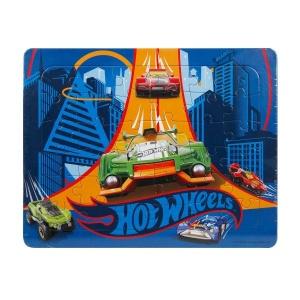 36 Parça Puzzle : Hot Wheels Arabalar Mavi