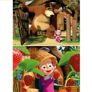 2x20 Parça Puzzle : Masha and The Bear