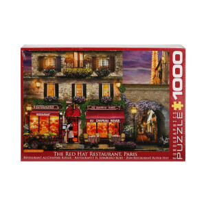 1000 Parça Puzzle : The Red Hat Restaurant Paris - David Maclean