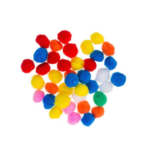 BuBu Renkli Ponpon 100'lü