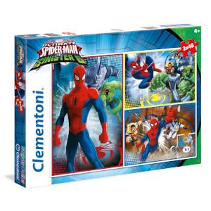 3x48 Parça Puzzle : Ultimate Spiderman