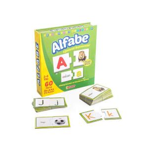 Eğlenceli Alfabe Puzzle 60 Parça - Eşleştirme Oyunu