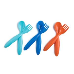 Mycey Bebek Çatal-Kaşık Seti 6'lı Mavi