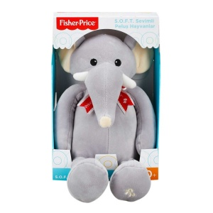 Fisher Price Soft Peluş Oturan Fil 35 cm.