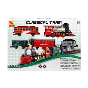 Klasik Tren Seti Sesli ve Işıklı 22 Parça