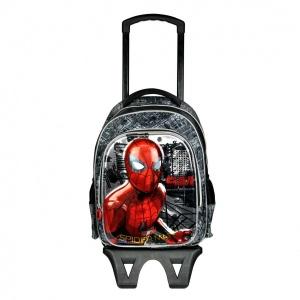 Spiderman Çekçekli Okul Çantası 95293