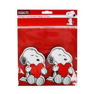 Snoopy Love Bardak Altlığı 2'li Set