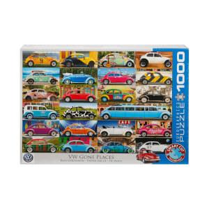 1000 Parça Puzzle : VW Gone Places