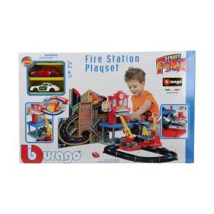 1:43 Street Fire Arabalı İtfaiye İstasyonu Oyun Seti