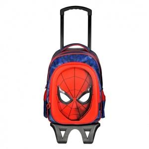 Spiderman Çekçekli Okul Çantası