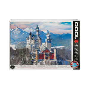 1000 Parça Puzzle : Neuschwanstein Castle In Winter