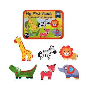 Woody Ahşap 6in1 Hayvanlar Puzzle 31 Parça