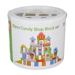 Ahşap Şeker Dükkanı Blok Set 50 Parça