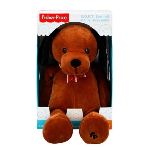 Fisher Price Soft Peluş Oturan Köpek 35 cm.