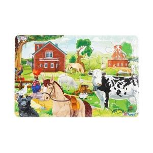 20 Parça Puzzle : Çiftlik Hayvanları
