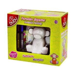 BuBu Porselen Kumbara Maymun Boyama Seti