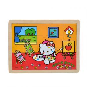 Hello Kitty Meslekler Ahşap Puzzle