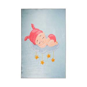 Firstmoon Uyuyan Bebek Çocuk Halısı Mavi 100 x 160 cm.