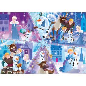 104 Parça Puzzle : Frozen Olaf's Adventure 2