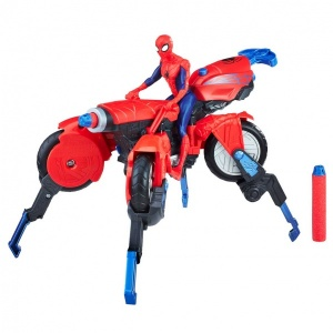 Spiderman Figür ve Örümcek Motosiklet E0593