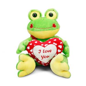 Kalpli Kurbağa Peluş 45 cm.