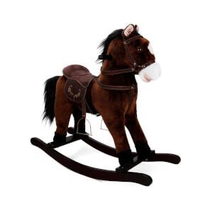Sallanan At Hareketli ve Müzikli Kahverengi