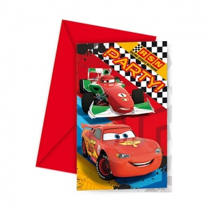 Cars 6'lı Davetiye