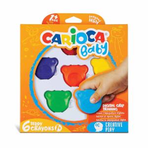 Carioca Teddy Bebek Crayons 6'lı
