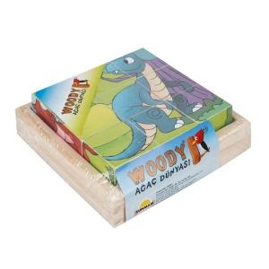 Woody Ahşap Küp Puzzle 9 Parça