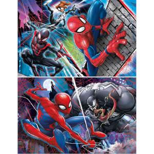 2x60 Parça Puzzle : Spiderman