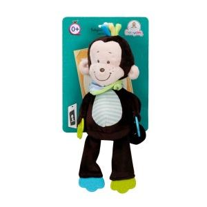 Babycim Çıngıraklı Dişlikli Peluş Maymun