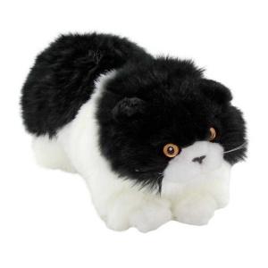 Yatan Siyah-Beyaz Peluş Kedi 26 cm.