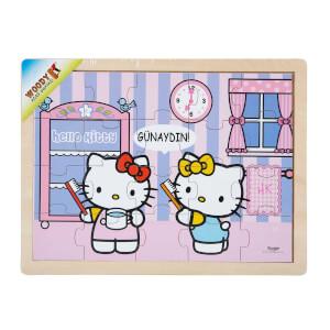 Hello Kitty Zamanlar Ahşap Puzzle